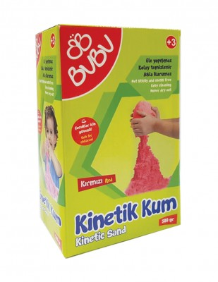 BUBU - Bubu Kinetik Kum - 500 gr - Kırmızı
