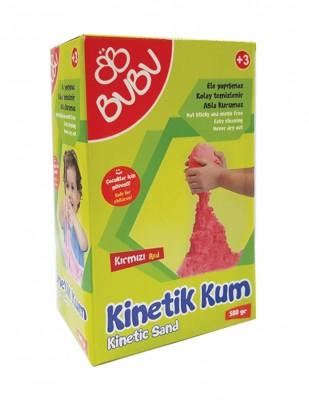 BUBU - Bubu Kinetik Dağılmayan Çocuk Oyun Kumu - 500 gr - Kırmızı