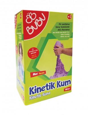 BUBU - Bubu Kinetik Dağılmayan Çocuk Oyun Kumu - 500 gr - Mor