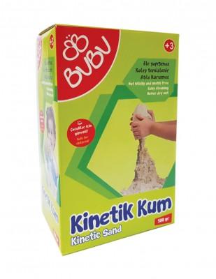 BUBU - Bubu Kinetik Dağılmayan Çocuk Oyun Kumu - 500 gr - Natural