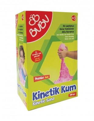 BUBU - Bubu Kinetik Dağılmayan Çocuk Oyun Kumu - 500 gr - Pembe