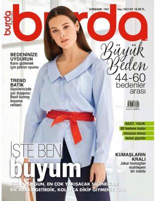BURDA - Burda Dergi - Büyük Beden İlkbahar, Yaz - 2021 / 01