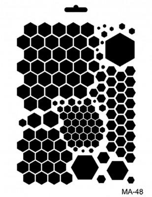 CADENCE - Cadence MA Serisi Stencil - Mixed Media Stencil, A4 - MA48