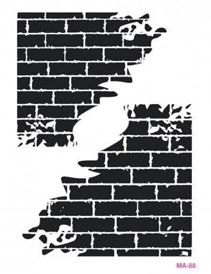 CADENCE - Cadence MA Serisi Stencil - Mixed Media Stencil, A4 - MA88