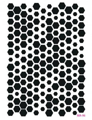 CADENCE - Cadence MA Serisi Stencil - Mixed Media Stencil, A4 - MA96