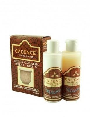 CADENCE - Cadence Mozaik Çatlatma Seti - 70+70 ml