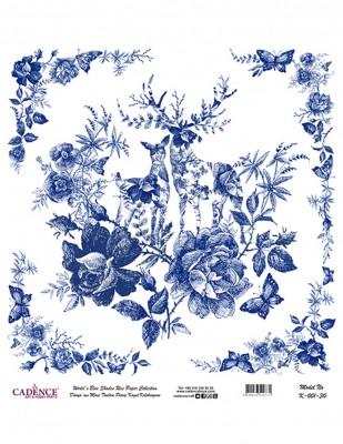 CADENCE - Cadence Pirinç Kağıdı - Dünyanın Mavi Tonları - 30 x 30 cm - K001