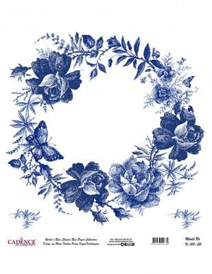 CADENCE - Cadence Pirinç Kağıdı - Dünyanın Mavi Tonları - 30 x 30 cm - K011