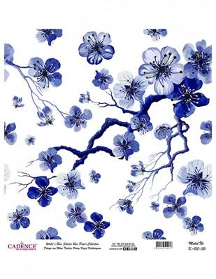 CADENCE - Cadence Pirinç Kağıdı - Dünyanın Mavi Tonları - 30 x 30 cm - K015