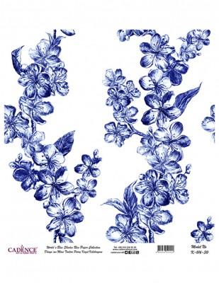 CADENCE - Cadence Pirinç Kağıdı - Dünyanın Mavi Tonları - 30 x 30 cm - K016