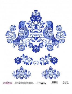 CADENCE - Cadence Pirinç Kağıdı - Dünyanın Mavi Tonları - 30 x 30 cm - K019