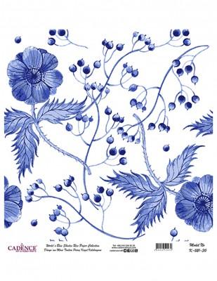 CADENCE - Cadence Pirinç Kağıdı - Dünyanın Mavi Tonları - 30 x 30 cm - K021