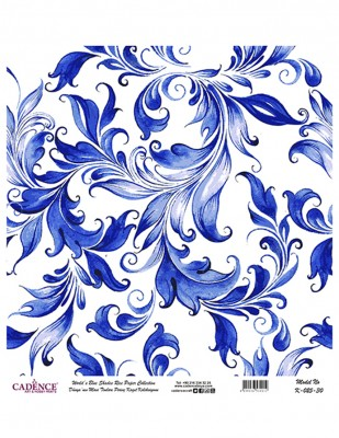 CADENCE - Cadence Pirinç Kağıdı - Dünyanın Mavi Tonları - 30 x 30 cm - K025