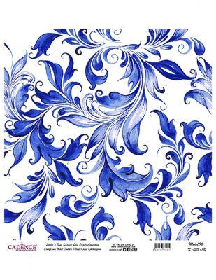 Cadence Pirinç Kağıdı - Dünyanın Mavi Tonları - 30 x 30 cm - K025