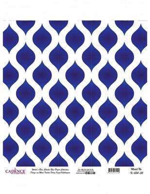CADENCE - Cadence Pirinç Kağıdı - Dünyanın Mavi Tonları - 30 x 30 cm - K034