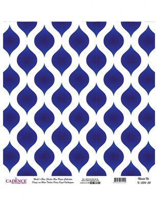 Cadence Pirinç Kağıdı - Dünyanın Mavi Tonları - 30 x 30 cm - K034