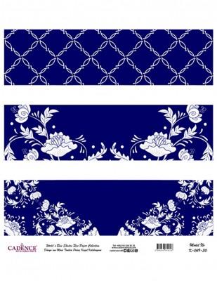 CADENCE - Cadence Pirinç Kağıdı - Dünyanın Mavi Tonları - 30 x 30 cm - K049