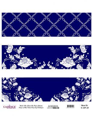 Cadence Pirinç Kağıdı - Dünyanın Mavi Tonları - 30 x 30 cm - K049