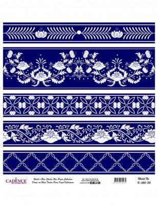 CADENCE - Cadence Pirinç Kağıdı - Dünyanın Mavi Tonları - 30 x 30 cm - K050