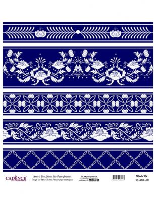 Cadence Pirinç Kağıdı - Dünyanın Mavi Tonları - 30 x 30 cm - K050