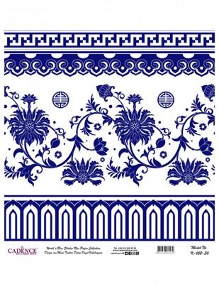 CADENCE - Cadence Pirinç Kağıdı - Dünyanın Mavi Tonları - 30 x 30 cm - K052