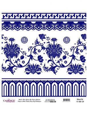 Cadence Pirinç Kağıdı - Dünyanın Mavi Tonları - 30 x 30 cm - K052