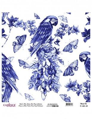 CADENCE - Cadence Pirinç Kağıdı - Dünyanın Mavi Tonları - 30 x 30 cm - K055