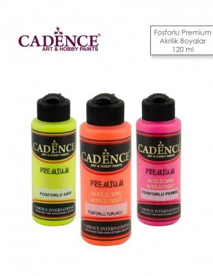 CADENCE - Cadence Fosforlu Premium Akrilik Boyalar - 120 ml
