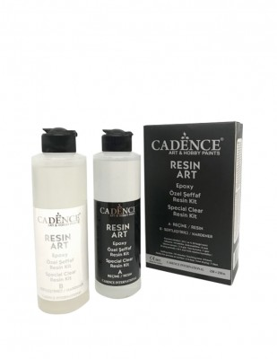CADENCE - Cadence Resin Art Şeffaf Epoksi Seti - 250 + 250 ml