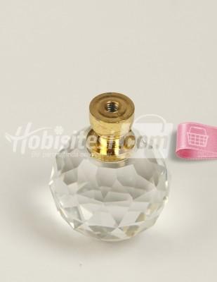 - Cam Kristal Ayak - Altın - Ç: 3 cm Y: 4 cm