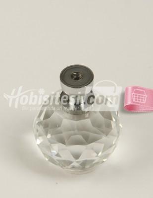 - Cam Kristal Ayak - Gümüş - Ç: 3 cm Y: 4 cm