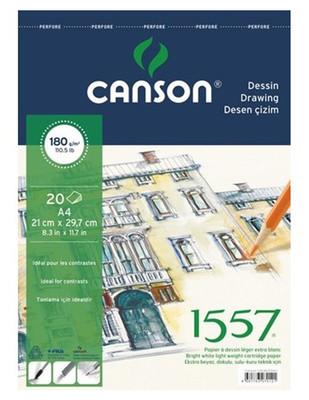 CANSON - Canson 1557 Drawing, Desen Çizim Defteri - A4, 20 Yaprak