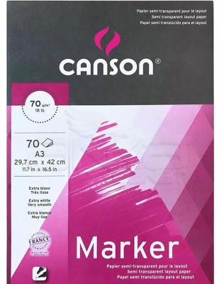 CANSON - Canson Marker Extra White Layout Paper, A3 - 70 gr - 70 Yaprak