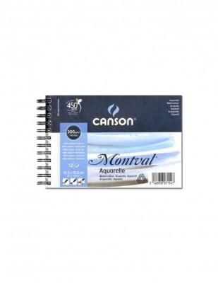 CANSON - Canson Montval Watercolour Paper, Suluboya Defteri Grain Fin, 10,5x15,5 cm - 300 gr -12 Yaprak