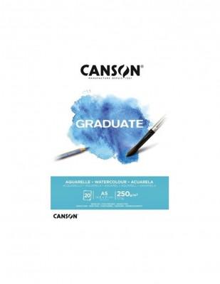 CANSON - Canson Graduate Suluboya Blok, A5 - 250 gr - 20 Sayfa