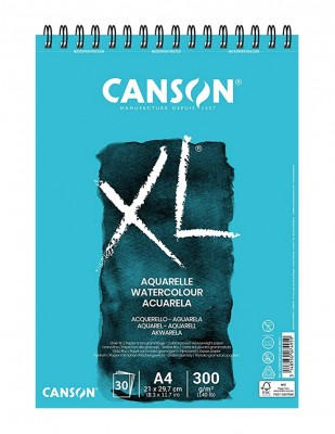 CANSON - Canson XL Aquarelle Watercolour Paper, Sulu Boya Defteri, A4 - 300 gr - 30 Yaprak
