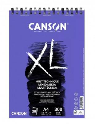 CANSON - Canson XL Media Teknik Çizim Defteri, A4 - 300 gr - 30 Sayfa