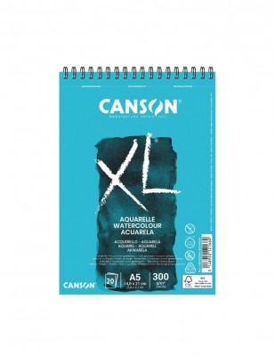 CANSON - Canson XL Aquarelle Watercolour Paper, SuluBoya Defteri, A5 - 300 gr - 20 Yaprak