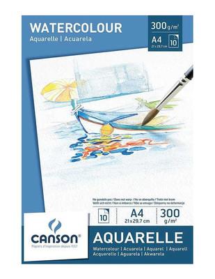 CANSON - Canson Aquarelle Watercolour Paper - Suluboya ve Akrilik İçin Sanatsal Defter - A4