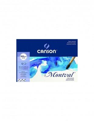 CANSON - Canson Montval Watercolour Paper, Suluboya Defteri, 18 x 25 cm - 300 gr - 12 Yaprak