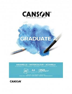 CANSON - Canson Graduate Suluboya Blok, A4 - 250 gr - 20 Yaprak