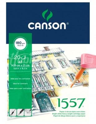 CANSON - Canson Drawing, Teknik Çizim Defteri - A5 - 20 Yaprak