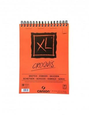 CANSON - Canson Croquis Eskiz Çizim Defteri, A5 - 90 gr - 50 Yaprak