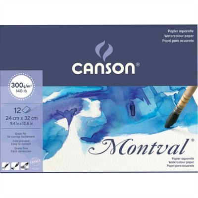 CANSON - Canson Montval Watercolour Paper - Suluboya Sanatsal Defter - 24 x 32 cm 300 gr 12 Yaprak