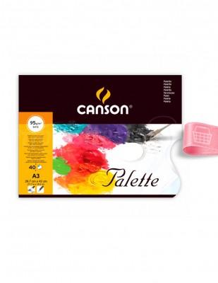 CANSON - Canson Palet Defter, 40 Adet Kağıt Palet - A3 40 Yaprak