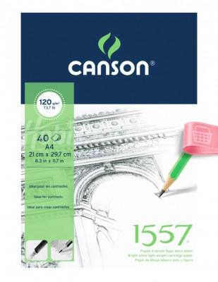 CANSON - Canson 1557 Sketch, Eskiz Defteri - A4, 40 Yaprak