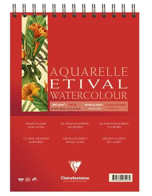 CLAIREFONTAINE - Clairefontaine Aquarelle Etival Watercolour Pad, A3 - 300 gr - 30 Yaprak