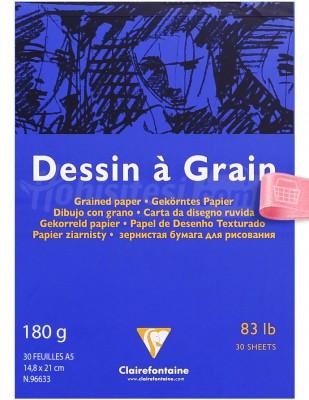 CLAIREFONTAINE - Clairefontaine Dessin A Grain - Dokulu Çizim Bloğu - A5 30 Yaprak