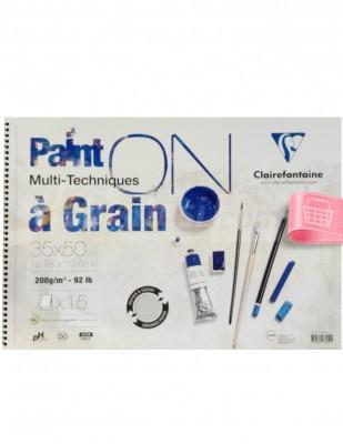 CLAIREFONTAINE - Clairefontaine Paint On Multi Techniques - Multi Teknik Blok - 35 x 50 cm, 15 Yaprak