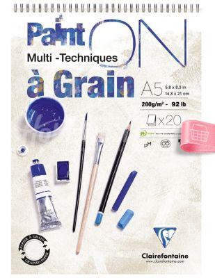 Clairefontaine Paint On Multi Techniques - Multi Teknik Blok - A5 20 Yaprak